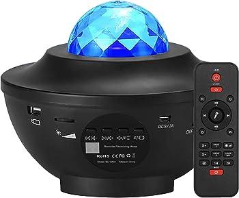 Elecstars Night Light, Star Projector with Bluetooth Speaker