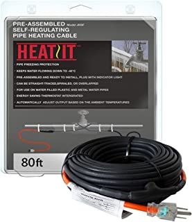 HEATIT JHSF 18-feet 120V Self Regulating Pre-assembled Pipe Heating Cable