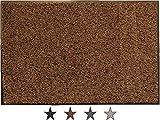 oKu-Tex Felpudo, algodón, marrón, 60 x 120 x 0,5 cm
