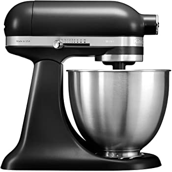 KitchenAid 5KSM3311X - Robot de cocina (3,3 L, Negro, palanca, 200 RPM, 1,219 m, CC): Amazon.es: Hogar