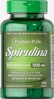 Puritan's Pride Spirulina 500 mg-200 Tablets