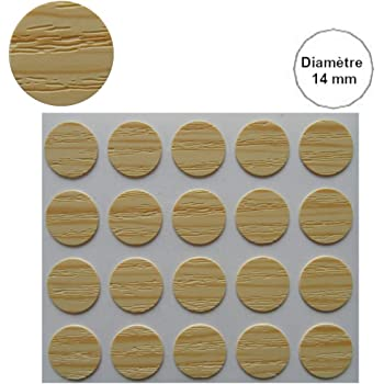 Tapones para tornillos adhesivos color caoba 100 unidades