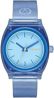 ساعة نيكسون تايم تيلر A12152885 كوارتز ياباني مطاط أزرق