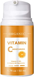 Face Moisturizer-Vitamin C Moisturizer-Anti Aging Daily Facial Cream for Hydration, Wrinkles, Soft Skin-Moisturizing Facia...