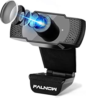 Faunow ウェブカメラ Webカメラ 1080P マイク内蔵 HD高画質 200万画素 USBカメラ パソコンカメラ PCカメラ 調整可能 30fps 在宅勤務 動画配信 ゲーム実況 ビデオ会議 ネット授業カメラ Skype/Faceboo...