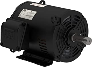 WEG 7.5 HP 3 Phase 1770 RPM Electric Motor Air Compressor Duty 213/215T Frame 00718OT3E213T-S
