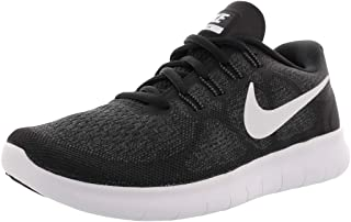 967f1cd41ce50 Nike Women s Free RN 2017 Running Shoe Black White Dark Grey Anthracite Size