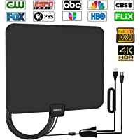 Ameiseye 80-Mile Digital Amplified HD TV Antenna (Upgraded 2019)