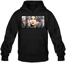 XIULUAN Men's Humans America TV Hoodied Sweatshirt XXL Black