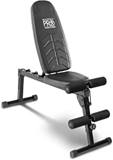 Marcy Pro Adjustable Exercise Weightlifting Workout Utility Weight Bench with Foam Roller Pads PM-10110