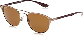 Ray-Ban 0rb3596 Square Sunglasses GOLD TOP ON MATTE BLACK 45.3 mm