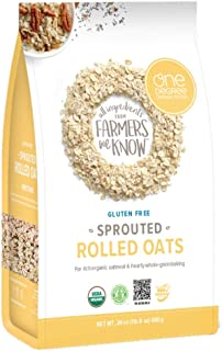 One Degree Organic Foods, Oats Sprouted Rolled Organic, 24 Ounce