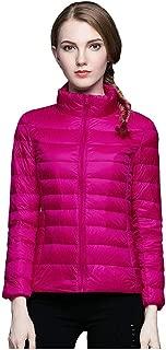 E-Scenery Fashion Down Jacket Women Lightweight Coats Winter Slim Long Sleeve Overcoat
