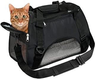 EVELTEK ペット用 キャリーバッグ 3way ショルダー 猫・小型犬用 キャリーバック 愛犬と旅行にぴったり (ペット用マット付き)