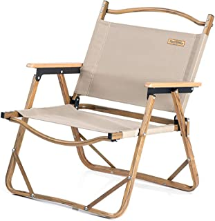 Naturehike アウトドア用品 木目アルミニウム椅子 600Dポリエステルオックスフォード採用 アルミ支柱 耐荷重120kg コンパクト 折りたたみチェア チェア ベンチ ビーチ 庭園 アウトドア キャンプ 用丸太木材タイプ椅子