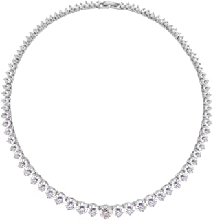 Lavencious Tennis AAA CZ Necklace Bridal Evening Party Bling Gold Plated Statement Jewelry 16