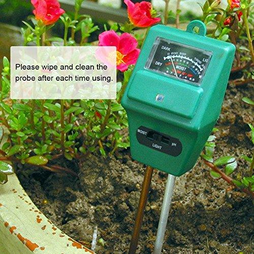 Soil Moisture Meter,3-in-1 Soil Test Kit Gardening,Soil PH Meter,Soil Tester for Moisture/Light/pH,Digital Indoor…
