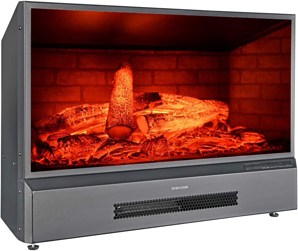 GMHome Over item handling ☆ 32 Inches Selling rankings Electric Fireplace Insert Firepla Standing Free