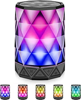 LFS Portable Bluetooth Speakers with LED Lights