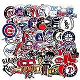 53 Pcs MLB Baseball Team Logo Stickers Pack Waterproof Vinyl for Hydroflasks Laptops Water Bottle Kids Teens Boys Toddlers Adults