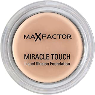 Max Factor Miracle Touch Liquid Illusion Compact Foundation, 065 Rose Beige, 11.5 g