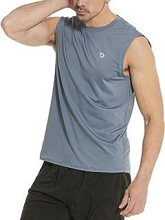 Men's Muscle Sleeveless Shirts Performance Gym Workout Tank Top