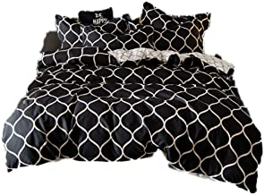 GHAOSAN Printed Bedding Set Green Black Duvet Cover King Queen Size Quilt Cover Brief Bedclothes Comforter Cover