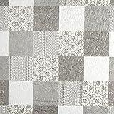 Fabulous Fabrics Steppstoff Soline – grau/beige —