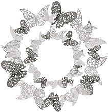 36 Pcs 3D Etiqueta Engomada Mariposa 3 Tamaños Pegatinas Decorar Muebles de Bricolaje Decoracion Boda Decoración del Hogar...