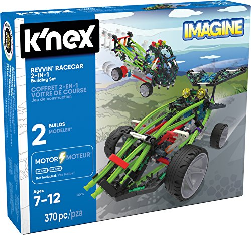 K?NEX - Revvin' Racecar 2-in-1 Building Set - 370 Pieces - Ages 7+ - Engineering Educational Toy