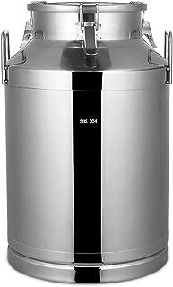 WKDZ Pot à lait en acier inoxydable - Grand fût de nourriture pour fûts de transport de cuisine - Joint en silicone - Seau...