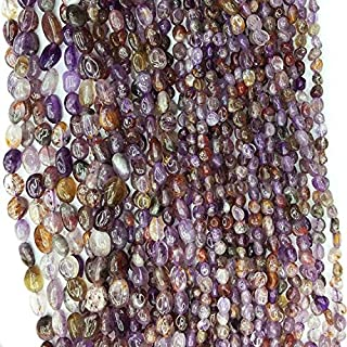 "Jewel Beads Natural Beautiful jewellery 1 Strands Natural Gold Purple Titanium Cacoxenite Nugget Free Form Fillet Irregular Pebble Beads Fit Jewelry 7-9mm 15.5"" 05350Code:- JBB-4598"