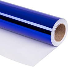 RUSPEPA Royal Blue Metallic Wrapping Paper-81.5 Sq Ft-Solid Color Paper Perfect for Wedding,Birthday,Christmas,Baby Show Gifts-30Inch X 32.8Feet