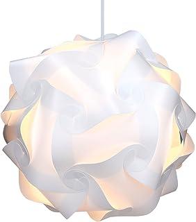 kwmobile Lámpara puzzle DIY 30 piezas - Lámpara de techo