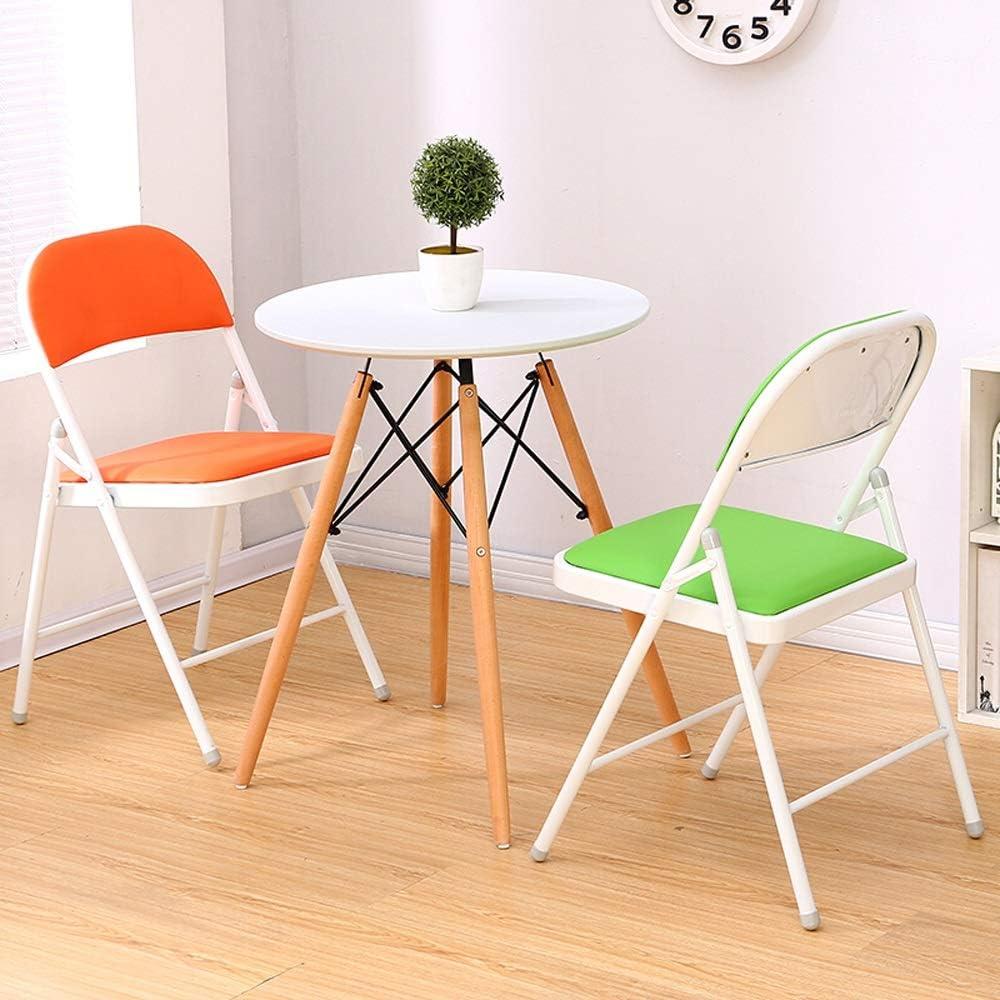 MING-tabourets L-H-X Chaise Pliante, Chaise d'ordinateur à la Maison, Chaise de Bureau, Chaise Pliante L++ (Color : Orange) Orange