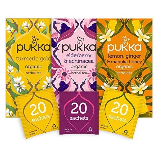 Pukka Herbal Tea Seasonal Wellness Organic Teas Bundle