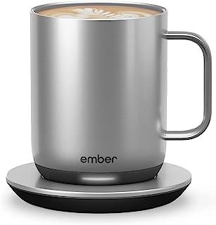 Ember Temperature Control Mug Smart 2، 10 oz، Stainless Steel، 1.5 hr باتری - برنامه کنترل شده لیوان قهوه گرم شده - جدید