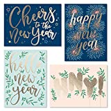 Sweetzer & Orange New Year Cards with Envelopes. 24 Set Box of Holiday Cards. Thick Note Cards and Envelopes, 300gsm Greeting Cards With Envelopes (120gsm). Happy Holidays and Thank You Cards