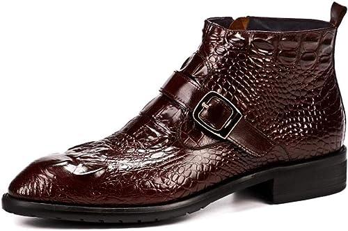 QARYYQ Chaussures En Cuir Britanniques à Motif De Crocodile Un Pied En Python, Chaussures De Mariage à La Mode En Cuir Brillant, Chaussures Pour Hommes En Cuir Antidérapantes Bottes en cuir pour homme