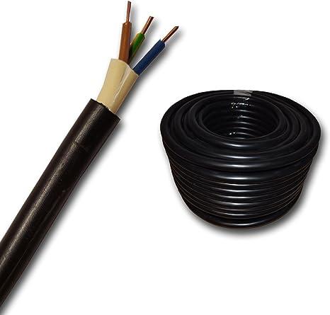 Erdkabel Nyy J 3x2 5 Mm Mm2 Meterware Auf Den Meter Genau Starkstromkabel Pvc Erdleitung Schwarz Auswahl In 1 Meter Schritten Sehr Viele Längen Bestellbar Beleuchtung