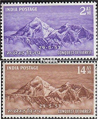 Prophila Collection Indien 228-229 (kompl.Ausg.) 1953 Everest (Briefmarken für Sammler) Landschaften