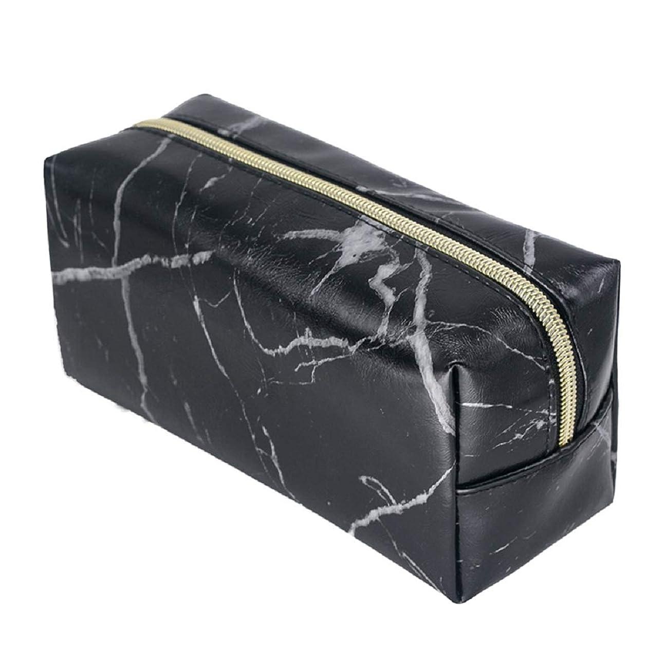 急性ゲージ識別Zhaozhe化粧ポーチ メイクポーチ 大容量 PU素材 軽量 防水 シンプル 旅行 小物入れ 化粧道具 19x9x7cm