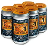 WELLBEING BREWING CO. 6 Pack Cans - Hellraiser Dark Amber Non-Alcoholic Craft Beer - 80 Calories - Zero Grams of Sugar - High in Polyphenols (Anti-Oxidants/Anti-Inflammatories) - 12 Fl. oz.