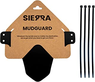 """Sierra Mountain Bike Mudguard for Front or Rear Tire - Fits 26"""", 27.5"""", 29"""", and Plus Tires - Includes Zip Ties"""