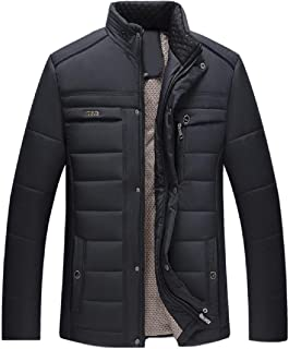 Howme-Men Texture Casual Weekend Utility Thickening Puffer Jacket