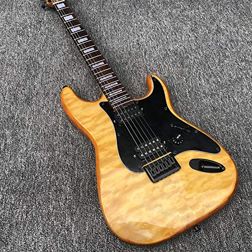MLKJSYBA Guitarra Guitarra Eléctrica Guitarra Eléctrica Cuerpo De Caoba con Guitarra Clásica De Arce Cosido Guitarras acústicas (Color : Guitar, Size : 41 Inches)