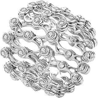 Buhui 2 in 1 anelli e bracciale, telescopico trasformabile, elegante braccialetto da donna, regalo di compleanno per San V...