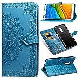 MRSTER Xiaomi Redmi 5 Plus Hülle, Premium Leder Tasche Flip Wallet Hülle [Standfunktion] [Kartenfächern] PU-Leder Schutzhülle Brieftasche Handyhülle für Xiaomi Redmi 5 Plus. SD Mandala Blue