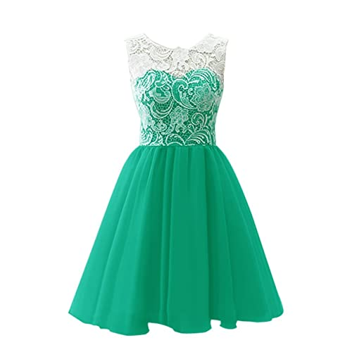 2b8573f48b0 KekeHouse Ball Gown Bridesmaid Dress Mother and Daughter Dress Flower Girl  Floral Lace Short Prom Dress