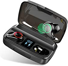 Wireless Earbuds Bluetooth 5.0 TWS Headphones, 96H Playtime Earphones in Ear with Touch Control/Charging Case/Bulit in Mic/LED Battery Display, Deep Bass IPX6 Waterproof Sport Earbuds for iOS Android